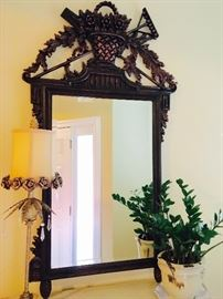 "Ornate French Country Style Mirror, 33""W x 57""H"