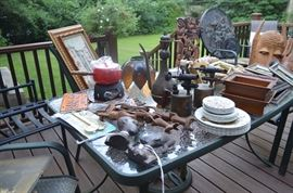 Patio Table, Knick Knacks, Vintage Items
