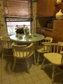 white wood kitchen table & chairs