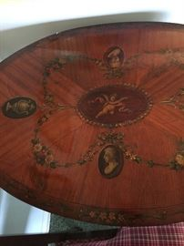 Inlaid wood table