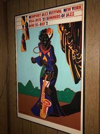 Vintage Newport Jazz Festival Poster Signed