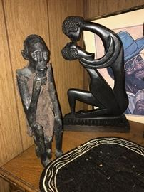 Wood carved figures