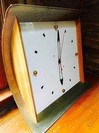 Oversized midcentury wall clock
