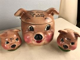 Deforest Pottery Collectible Pig Cookie Jar
