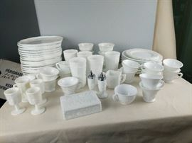 Several Lots of Milk Glass