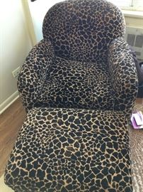 Merchandise Mart designer chair and ottoman $475