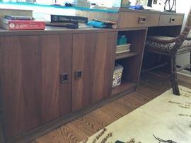 Mid century teak desk/shelving unit 1960s. $500
