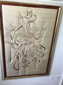 Silk stitched art from 1920. $400 each set of 2