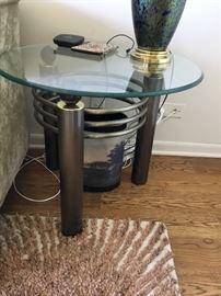 Iron glass coffee table $285