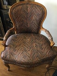 Oversized antique carved arm chair $400