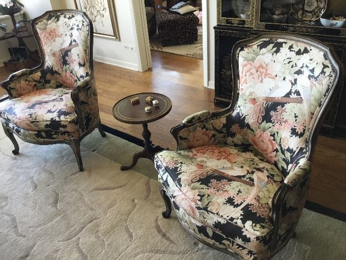 Pair of floral arm chair excellent condition $300 each