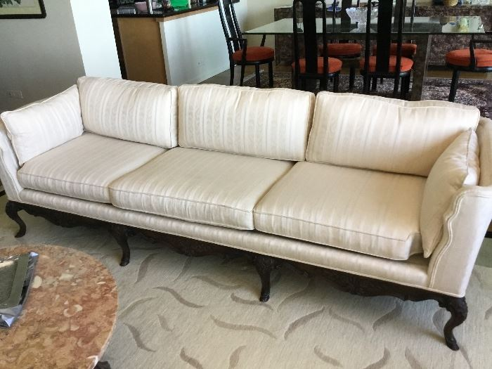 Silk couch from merchandise mart $675
