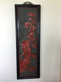 Carved Asian art piece
