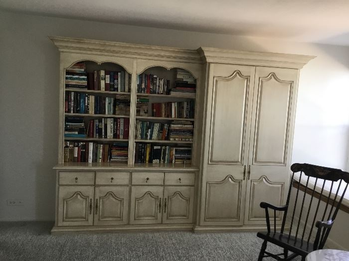 Matching book shelves/armoire $700