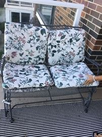 Wrought iron glider $190