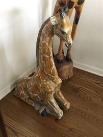 Midcentury giraffe approximately 4 ft tall.  $400