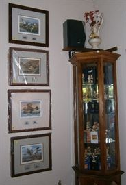 Framed Waterfowl Prints and collection of Hummels.