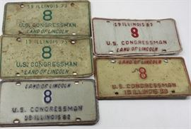 Congressional License Plates from Congressman Dan Rostenkowski's Estate. Chicago, Illinois U.S. Politics