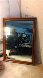 Large Framed Mirror.