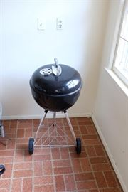 Weber Grill.  Barbecue utensils available.
