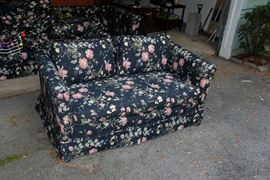 Upholstered love seat, part of set with sofa. Very clean, no signs of wear.