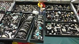 Cases full of jewelry