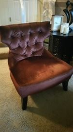 Plush tufted side chair