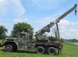 1972 AM GENERAL M816 ARMY 6x6... WRECKER AND CRANE