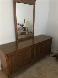 Part of a beautiful bedroom set with matching nightstands and tall armoire!