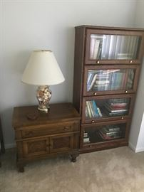 Part of a beautiful bedroom set with matching nightstands and tall armoire! Newer lawyers style bookcase!