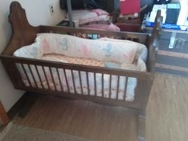 large wooden cradle