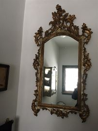HV Estate. Vintage Venetian Parcel-gilt Mirror.