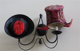 bins of interesting and unusual hats