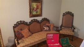 Beautiful Antique Sofa and Chair