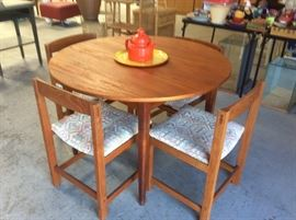 Teak dining table with 4 chairs