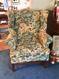 Sit comfy in your sturdy wing back chair