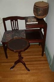 TELEPHONE TABLE & OCT. STAND