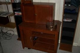 BOTTOM - STEREO CABINET, UPPER - CUBBY HOLE CABINET