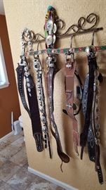 bling bling western ladies belts