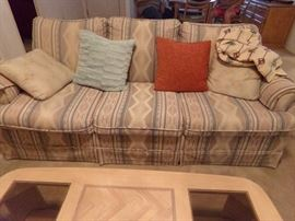 Sleeper Sofa with Pillows
