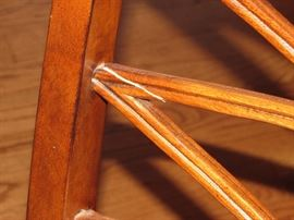 Small flaw in one of the chairs. Can be easily fixed but we will leave that to the final buyer.