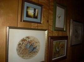 Local artists work throughout the house