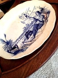 This Plate Is One Of My faves...He's Holding a Parrot...But At First I Thought He Was Taking A Selfie!...