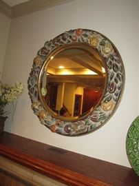 Art pottery mirror