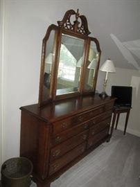 Country French Dresser with mirror