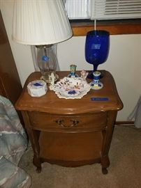 cobalt blue vase etc