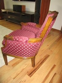 Burgundy side chair