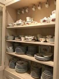 Porcelain menu priced to sell -all floral