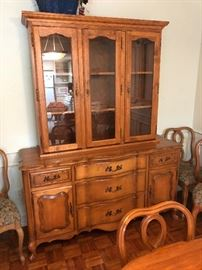 French Provincial 2 piece hutch/sideboard. Hutch is removable