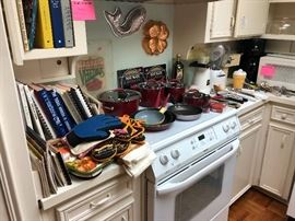 Cookbooks, cookware, kitchen items